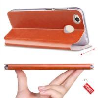 Best Leather Case Flip Xiaomi Redmi 4X Prime Soft FlipCover Flipcover