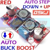 Red Qskj Auto Buck Boost Step Down + Up Xl6009 Converter Solar Aki Dc