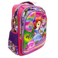 Tas My Sofia The First 5D Timbul Hologram Import + Alat Tulis