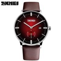 jam tangan merk skmei kulit casual model untuk pria