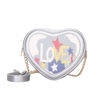 Tas Korea Silver Impor Cantik pergi Mall Wanita Love Murah