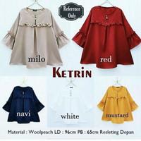 Baju Atasan Wanita Muslim / Blouse / Tunik / Keyla Top Woolpeach