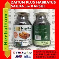 Minyak Zaitun + Habbatussauda Nigellive (isi 200 kapsul)