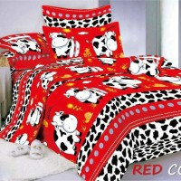 sprei red cow 120x200   single bed T3010