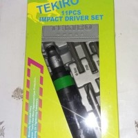 Obeng ketok Tekiro 11pcs   Obeng Gedor Tekiro   Impact Driver 11  T30