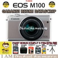CANON EOS M100 KIT 15-45MM PAKET KOMPLIT