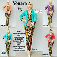 baju wanita kebaya yonara 3 batik modern modis trendi unik cantik