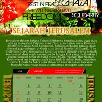 Kalender Meja/Duduk Bela Palestina 2018 Masehi