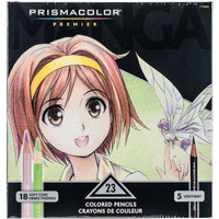 New Prismacolor Premier Colored Pencils, Manga Colors, 23-Count