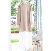 Baju Wanita / Dress Kaftan Gamis Blouse / Longdress Lucia