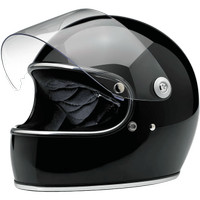 Helm BILTWELL GRINGO S Retro Full-Face Helmet Gloss Black size M L XL