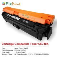 Cartridge Toner Compatible HP CE740A 307A Black, Printer CP5225 CP5225