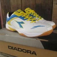 Sepatu Badminton Diadora Pedersen Mens White Blue Original Murah
