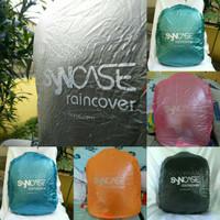 Cover Bag / Rain Cover / Jas hujan tas transparan merk syncase