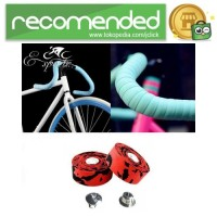 Handlebar Tape Sepeda 2M x 30MM 2PCS - Hitam Merah