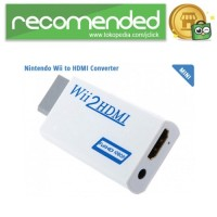 Video Konverter Nintendo Wii ke HDMI dengan 3.5mm Port - Putih