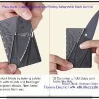 Pisau Kartu Cardsharp Credit Card Folding Safety Knife Blade T3009