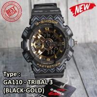 SALE MURAH !!! Jam Casio G-Shock GA110 Black hitam Gold SUPER PREMIUM