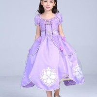 Baju Anak Dress Kostum Princess Sofia Ungu
