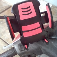 Holder HP GPS di Motor Bracket Dudukan HP di Motor Spion Stand Bracket