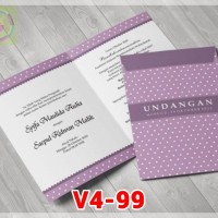 [V4] Undangan Pernikahan Soft Cover Murah & Unik 099
