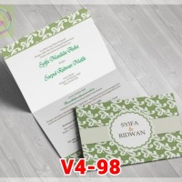 [V4] Undangan Pernikahan Soft Cover Murah & Unik 098