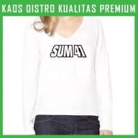 Kaos Sum 41 Logo 2 Wanita Cewek Lengan Panjang WLP-SUM02