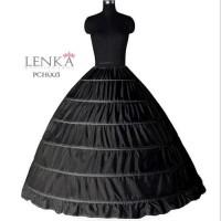 Petticoat Gaun Pengantin l Rok Pengembang Ball Gown Hitam (6 Hoop Ring