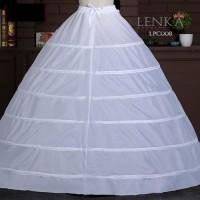 Petticoat Ball Gown Gaun Pengantin (6 Hoop Ring) l Lenka - LPC008
