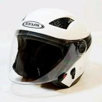 Helm Ukuran XXL - Zeus ZS610 White putih dual visor Berkualitas