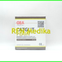 Catgut Plain 2/0 (3,5 Metric) dengan Jarum Gea Medical