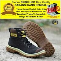 Sepatu pria boots safety proyek caterpillar ujung besi kreasilokal