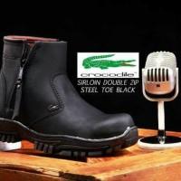 Sepatu pria militer boots proyek tracking outdoor CROCODILE sleting