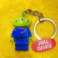 Lego Keychain Alien Toy Story Little Green Man Minifigure Gantungan