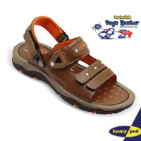 harga Homyped Sandal Gunung Anak Captain 01 Brown + Hadiah Bugs Hunter Tokopedia.com