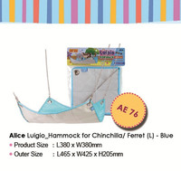 AE76 Alice Luigio Hammock Large Blue Ayunan Chinchilla Ferret