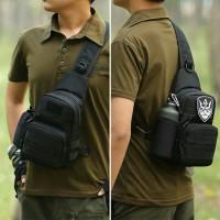 Tas Pria Army Tactical Import Impor Slempang Selempang Sling Bag D5SM9