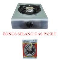 Niko Kompor Gas 1 Tungku Plus Selang Gas Paket Regulator Meter Flexi