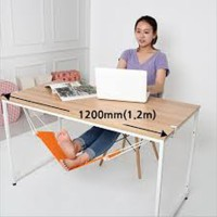 Hammock Footrest Chair Swing Gantungan Istirahat Kaki Bawah Meja Unik