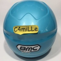 (Sale) HELM BMC MILAN SOLID LIGHT BLUE HALF FACE
