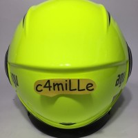 HELM AGV FLUID EQUALIZER YELLOW FLUO BLACK DOUBLE VISOR HALF FACE