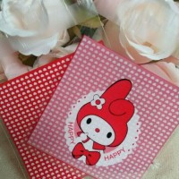 Plastik Fancy Cookies - Kue - Permen - Accessories My Melody Red 7x7