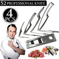 (Diskon) PISAU SET CANTIK 4PC +1 HOLDER KNIFE KOKI CHEF PROFESSIONAL