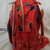Tas Ransel Sekolah Anak Paud/Tk Gambar Timbul 3D/5D 2 Rest Avengers