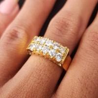 New Cincin Emas 7.90 Gram Berlian Banjar 1.30 Carat Fashion Wanita