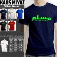 Kaos Tshirt Baju Combed 30S Distro Muslim Cyber Army Jersey Futsal
