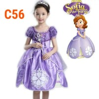 Baju Anak Dress Kostum Princess Sofia