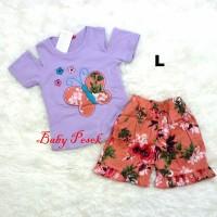 Baju Setelan Sabrina Butterfly Anak Bayi Perempuan Spandek (2-21 bln)