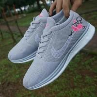 Nike Flyknit Racer Sakura Women / Sepatu Sneakers Gym / Wanita Cewek