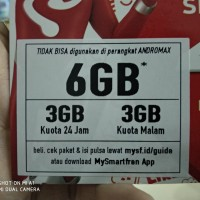 KARTU PERDANA SMARTFREN DATA 6GB